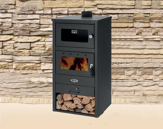 Stufa a legna blist 11 kw con forno arredo for Stufa a legna per veranda protetta