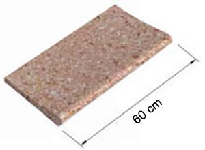 Bordo sagomato Standard Rosa Provenza sabbiato DRITTO