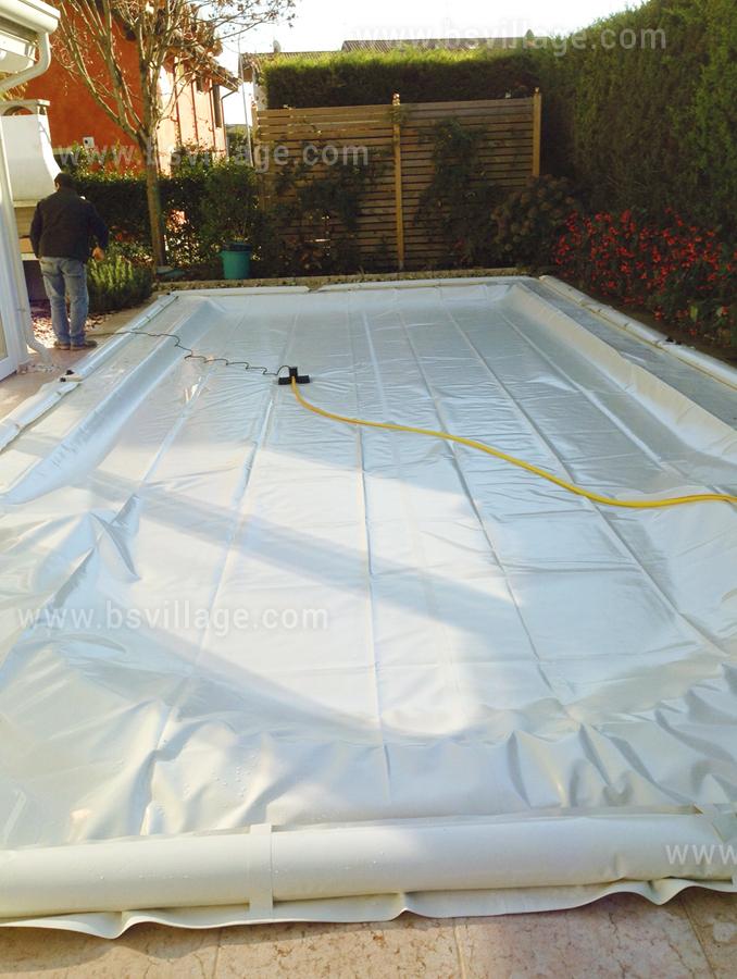 Copertura per piscina Polartex COLOR 650 PVC con aggangio Salamotti