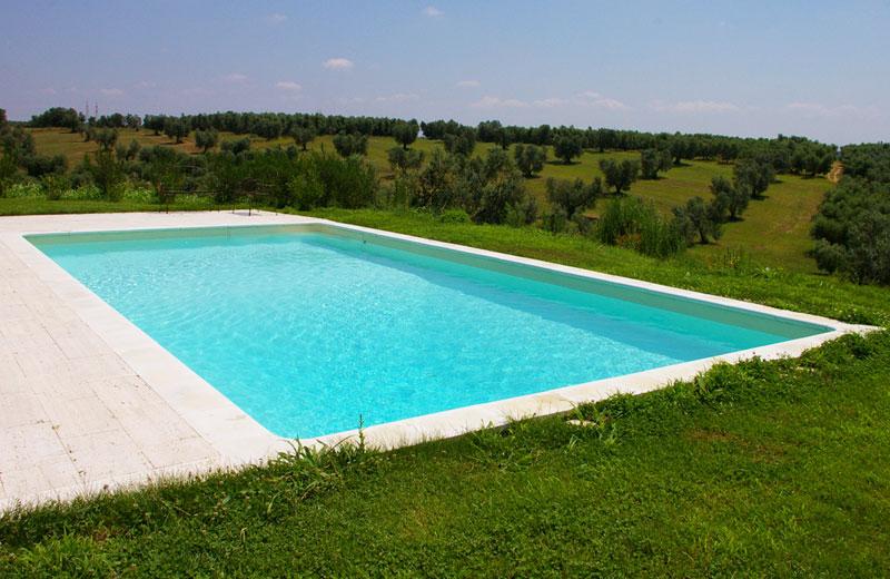 piscina interrata in casseri di polistirolo