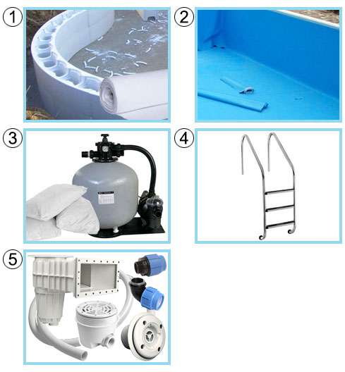 Kit standard piscina interrata in casseri