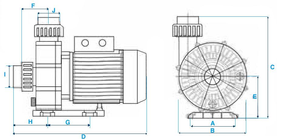 Pompa per idromassaggio ENGLAND 1500