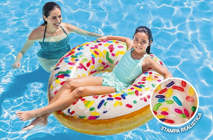 Ciambella gonfiabile Donut per piscina 114 cm