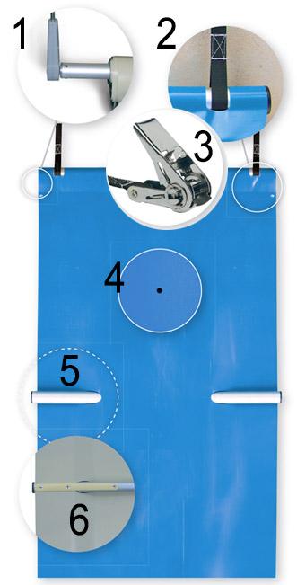 Copertura di sicurezza a barre EASY Light per piscina 4 stagioni