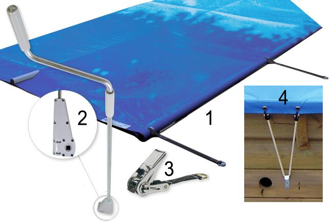 Copertura di sicurezza a barre EASY wood per piscine in legno