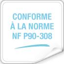 Conforme alla normativa NF P 90-308