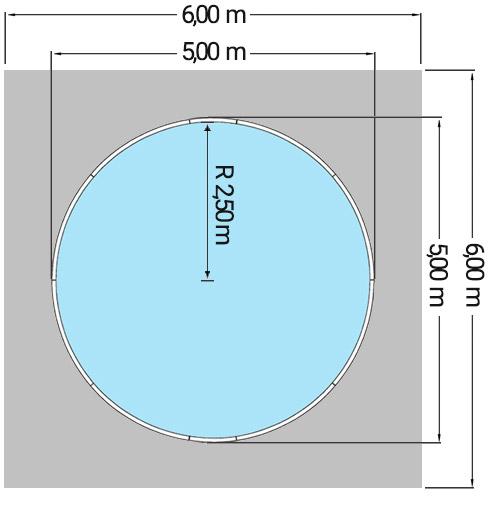 Dimensioni Piscina CLIO Ø 500 h 1,20 m
