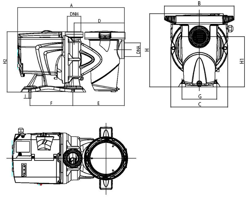 Dimensioni pompa ESWIM