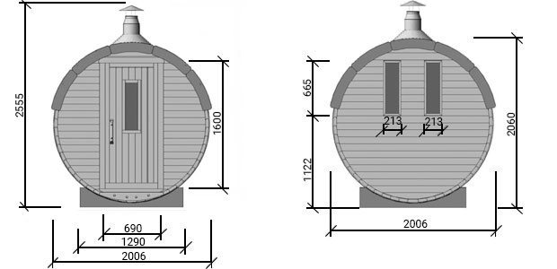 sauna plutone senza terrazza