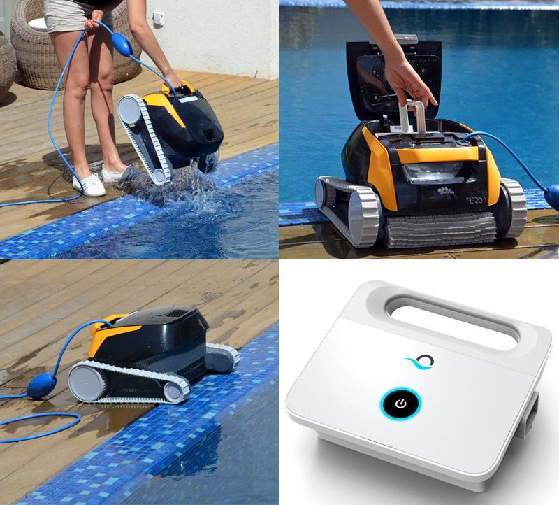 Robot piscina dolphin e 20 maytronics for Riparare piscina