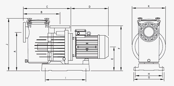 Pompa Piscina per filtrazione Espa S3 MAGNUS 300 - 3 HP
