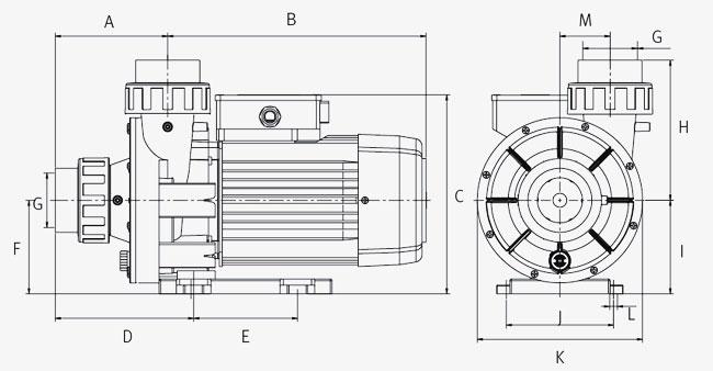 Pompa per idromassaggio WIPER3 150 Espa - 2P 1.5 HP