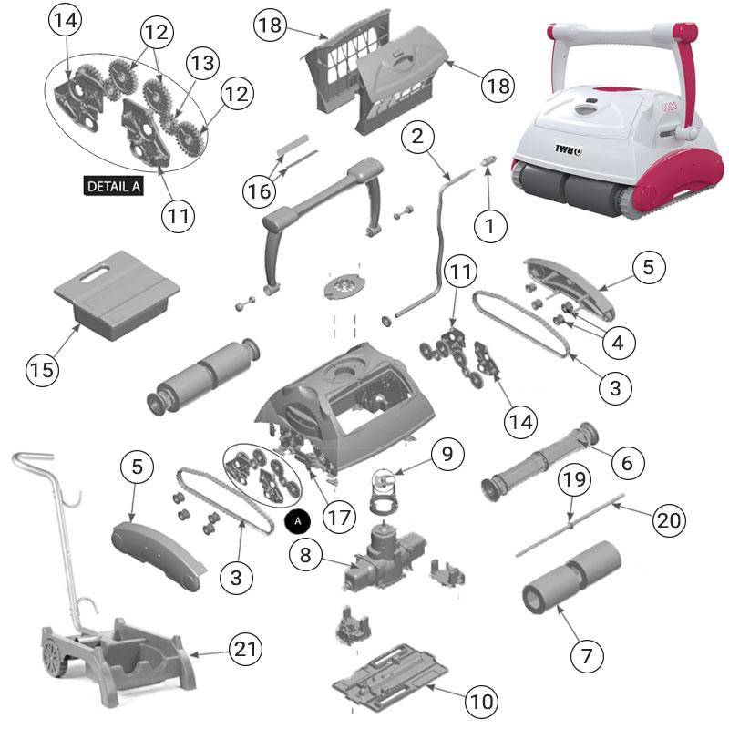 Ricambi per robot BWT D200