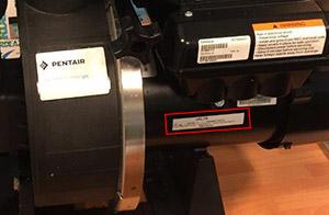 Codice Seriale Pompa Filtrante PENTAIR ULTRAFLOW