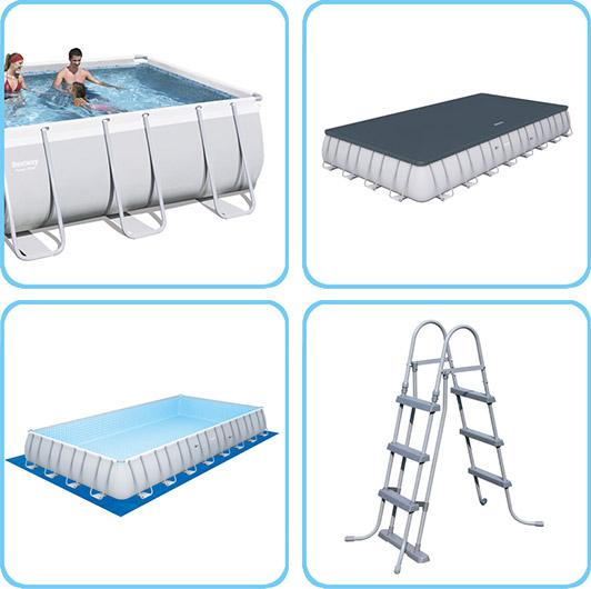 Piscina fuori terra bestway power steel frame - Riparazione telo piscina ...