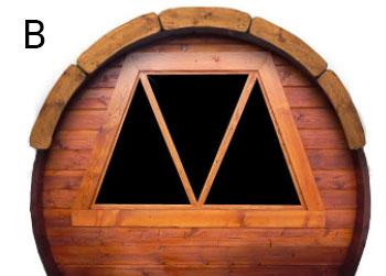 Finestra retro sauna Plutone