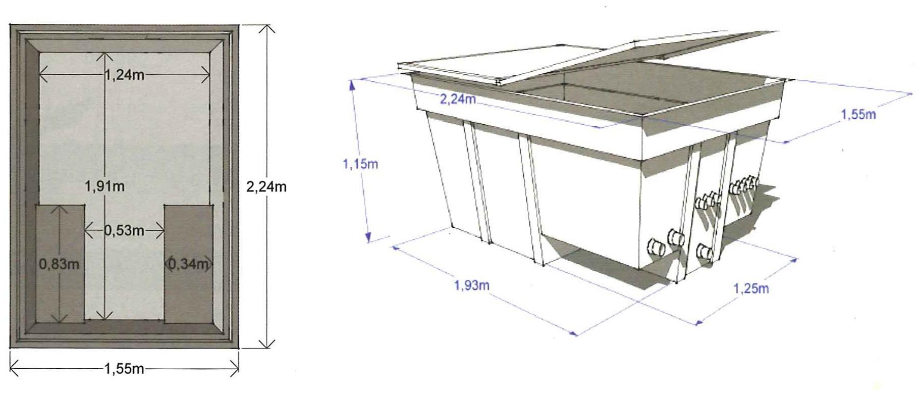 DImensioni locale tecnico piscina hellio