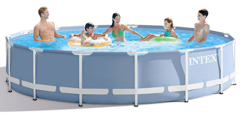 Piscina fuori terra intex metal frame 4 57 x h 0 84 m for Piscine intex 4 57