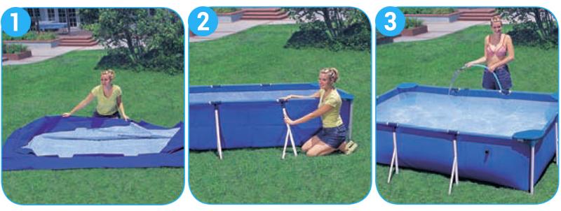 Installazione piscina intex metal frame
