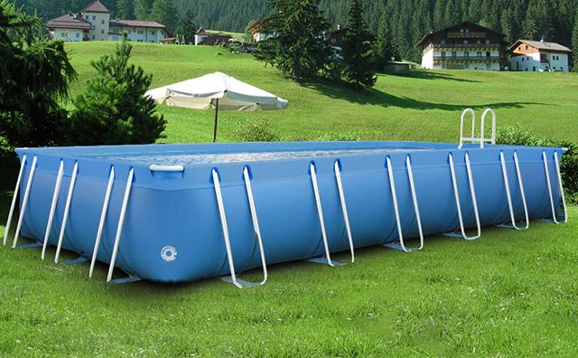 Piscina fuori terra ITALIKA® Soft rettangolare 8,80 x 4,80 h.1,40 m