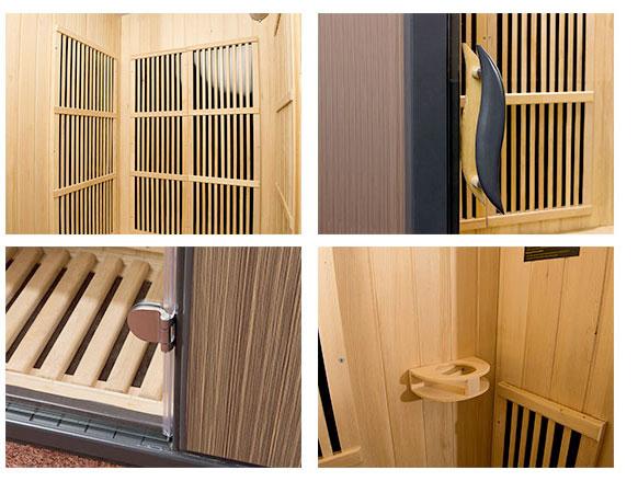 Dettagli interno Sauna Corinna