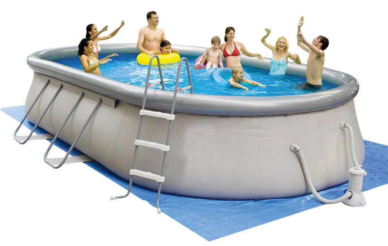 Piscina fuori terra ovale CHINOOK Grey Jilong
