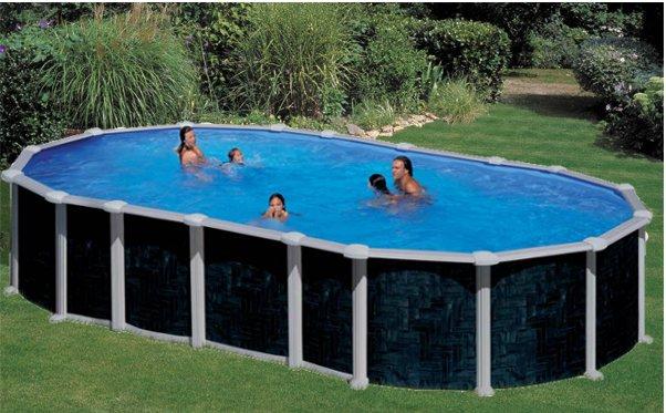 Piscina fuori terra ovale gre serie creta 730 x 375 - Tappeto per piscina fuori terra ...