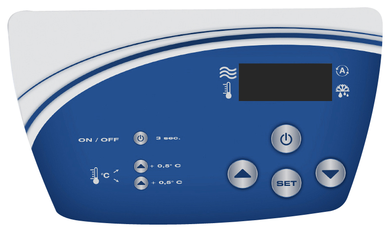Schermo LCD pompa di calore