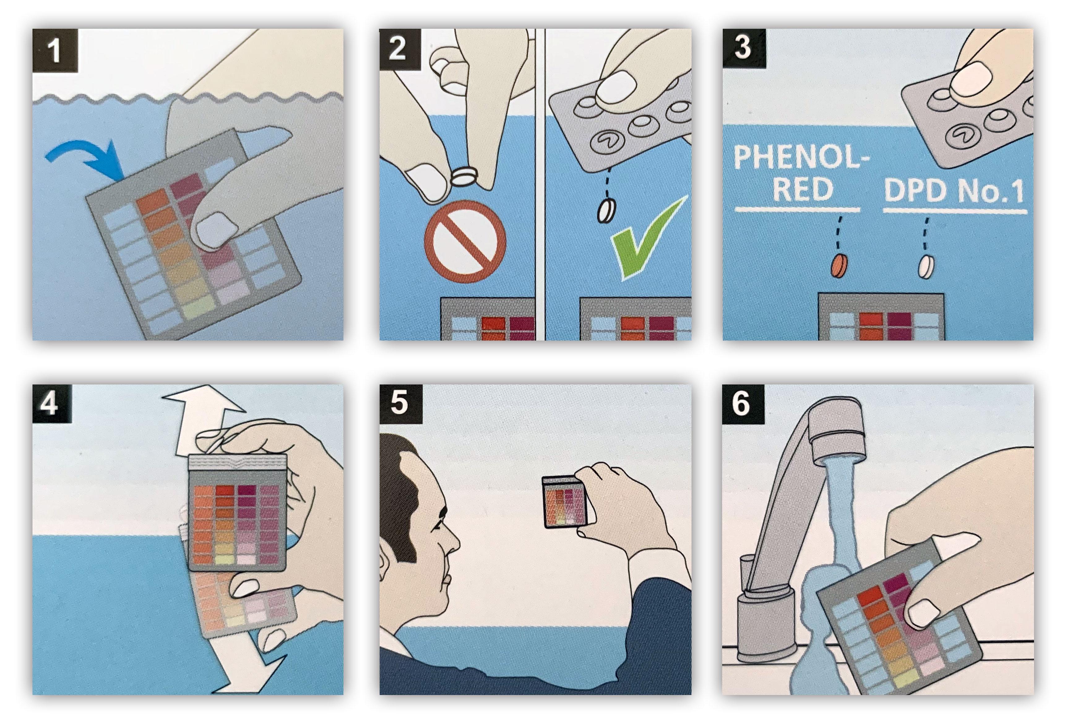 Test kit cloro/pH in pasticche confezione da 2+2 blister - Lovibond