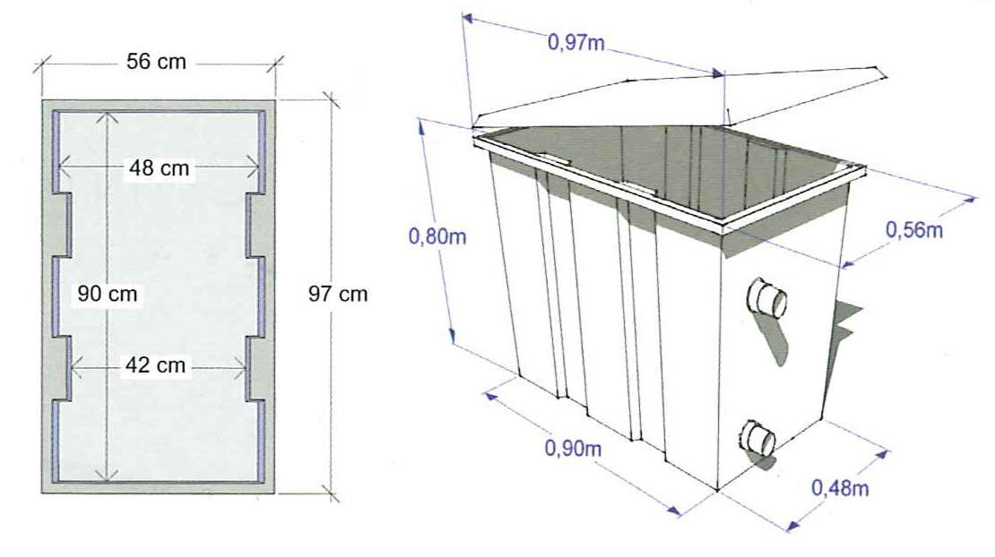 DImensioni locale tecnico piscina arco