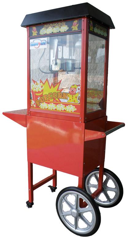 macchina per pop corn con carrello happy air