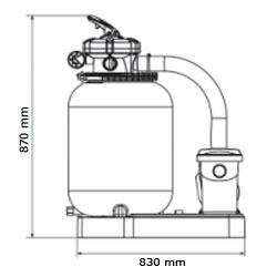 Gruppo filtrante GRE da 8 m³/h monoblocco a sabbia