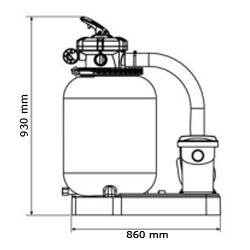 Gruppo filtrante GRE da 10 m³/h monoblocco a sabbia