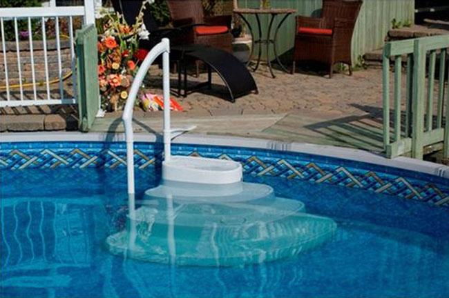 Scaletta amovibile majestic lumi o antiscivolo per piscina - Gradini per piscine ...