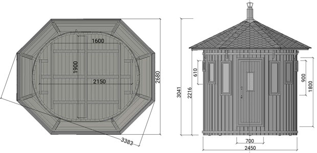 misure sauna ade