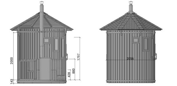 dimensione sauna ade