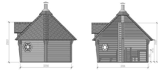 dimensione sauna odino