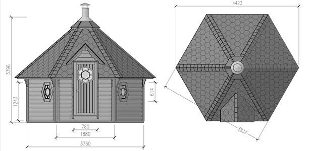 misure sauna odino