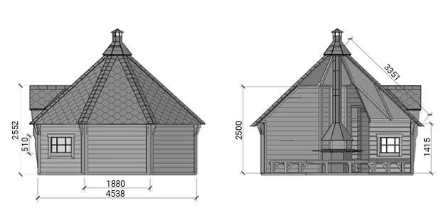 dimensione sauna olaf