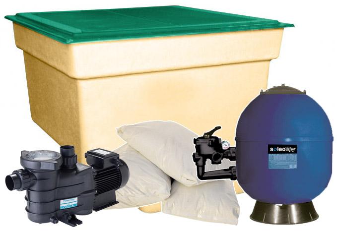 Impianto di filtrazione a sabbia e locale tecnico