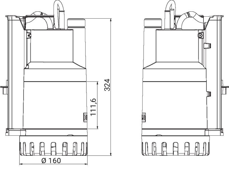 pompa sommergibile da drenaggio NOVA UP MAE 600