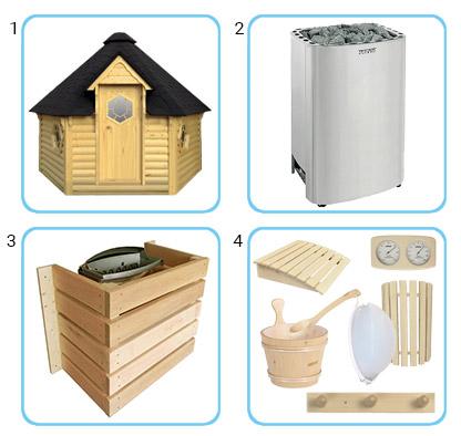 Sauna finlandese tradizionale da esterno - kit pro con riscaldatore elettrico