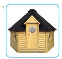 Sauna finlandese tradizionale da esterno - Kit solo struttura
