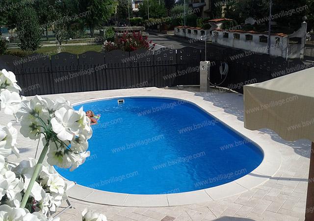 Esempio installazione piscina interrata in lamiera d'acciaio OLIVIA
