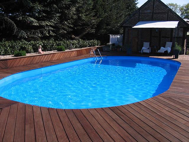 Esempio installazione piscina interrata in lamiera OLIVIA