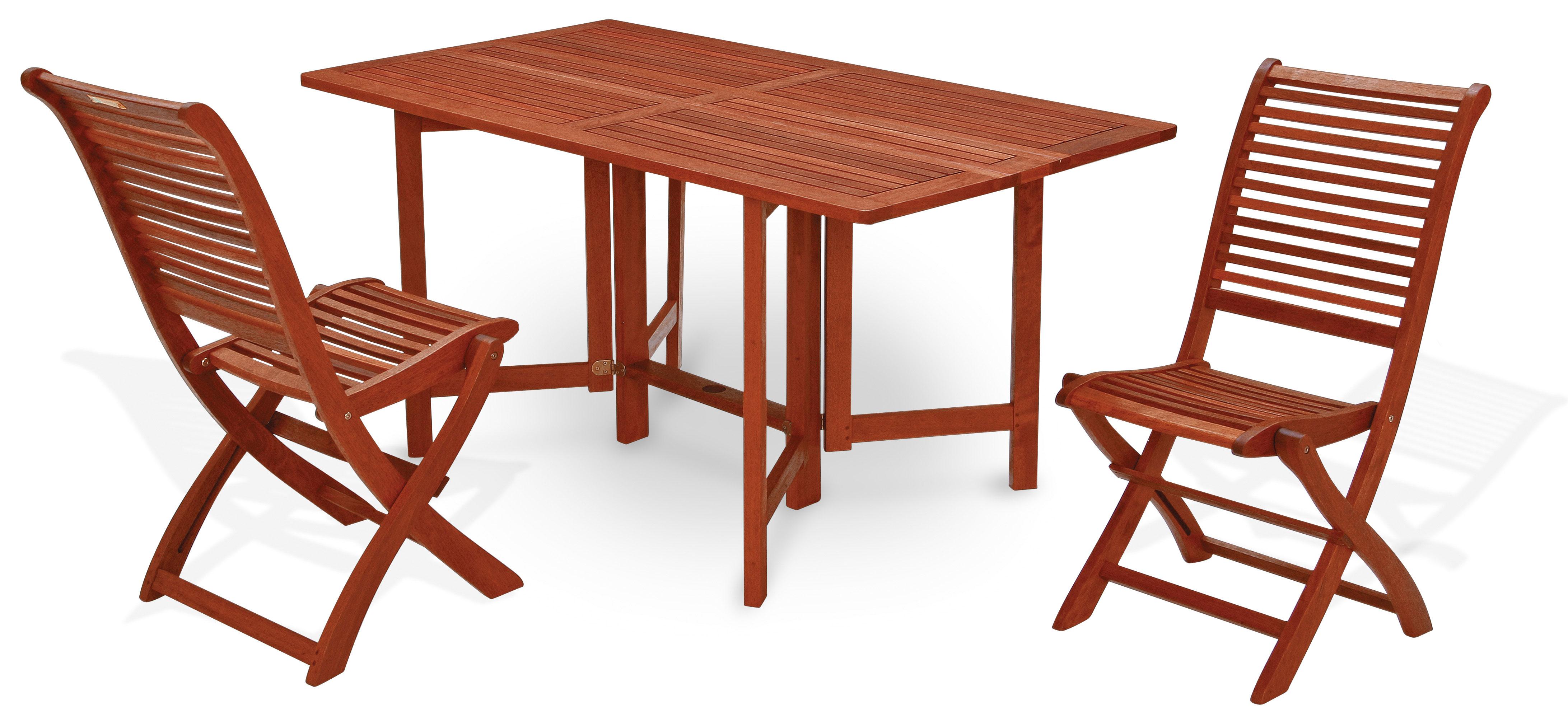 Set pranzo da giardino in legno PAPAVERO/MIMOSA