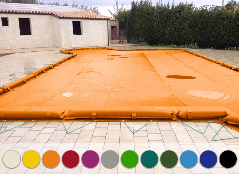 Copertura invernale per piscina PVC 650 colorata
