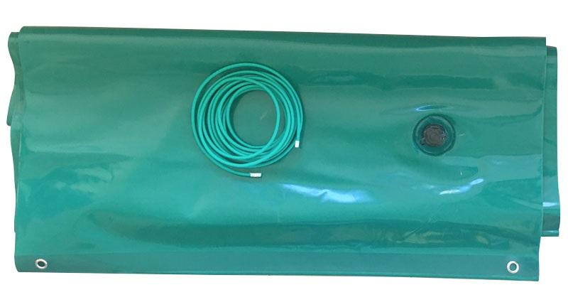 airtube in pvc verde per copertura piscina