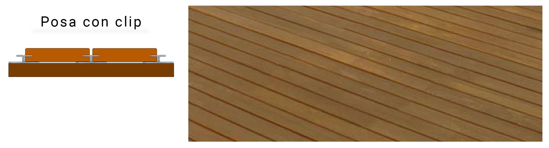 Sistemi di posa Pavimentazione in legno naturale