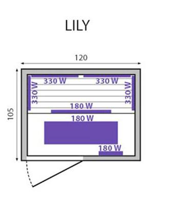 Sauna a raggi infrarossi Lily